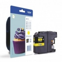Cartus cerneala Original Brother LC123Y Yellow, compatibil MFC-J4410DW/MFC-J4510DW, 600 pag.LC123Y